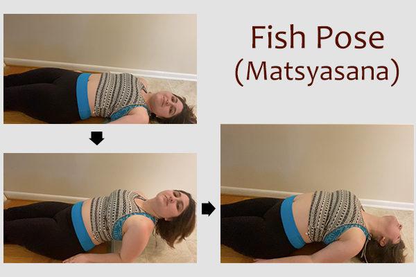 fish yoga pose (matsyasana)