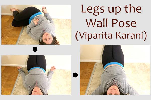 legs up the wall yoga pose (viparita karani)
