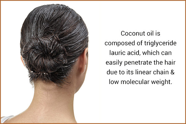 coconut oil can help promote hair health