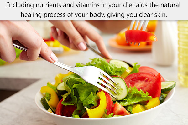 eating nutritious foods may prevent dark spots