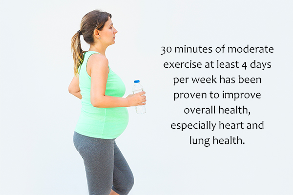 exercises and sleep routine recommended during pregnancy
