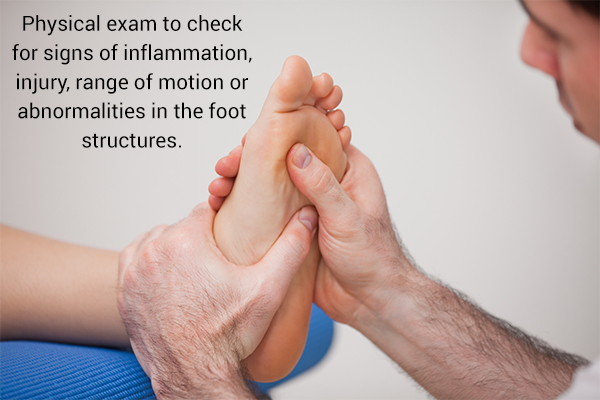 how is foot pain diagnosed?