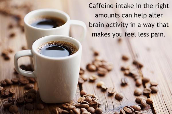 caffeine intake in proper amounts help in managing muscle pain