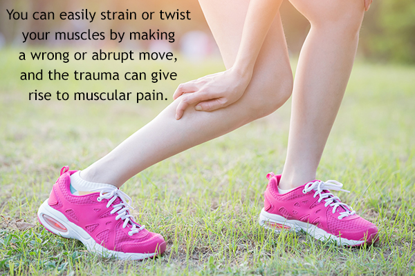 certain injuries can cause muscle pain