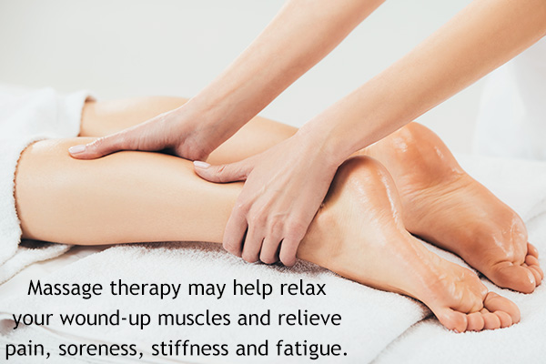 massage therapy may aid in soothing muscle pain