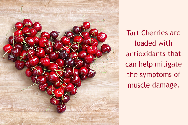 tart cherries helps in healing damaged or tired muscles