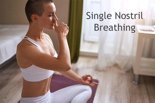single nostril breathing technique for constipation relief