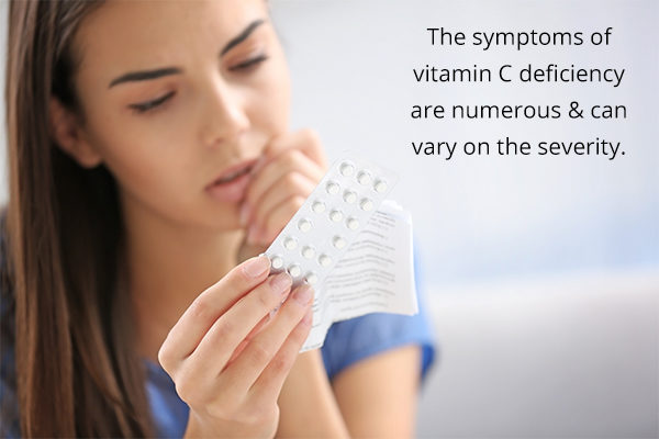 vitamin C deficiency signs and symptoms