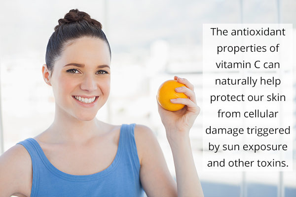 vitamin C intake can help protect and promote skin health
