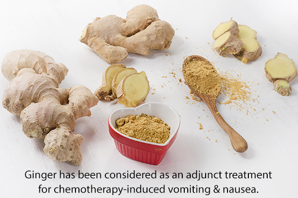 ginger may aid in providing relief from vomiting