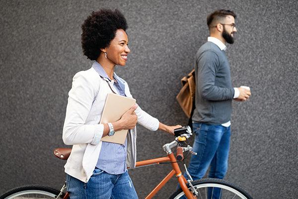 walking/biking to work can help you stay in shape