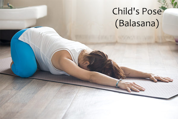 child's pose (balasana) for constipation relief