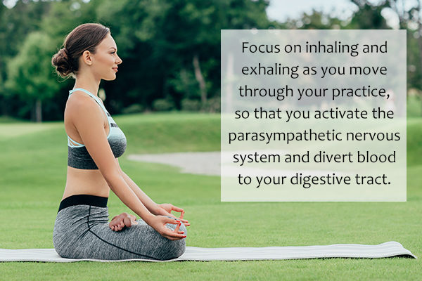 yoga as a means to relieve constipation