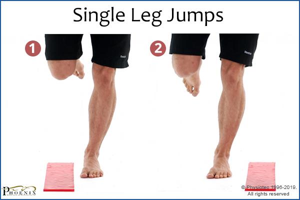 single-leg jumps