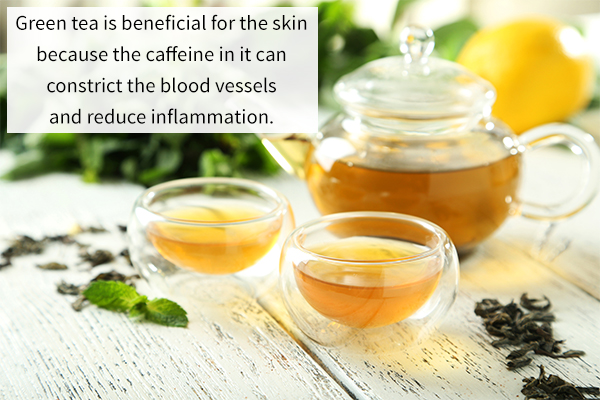 benefits of green tea for the skin