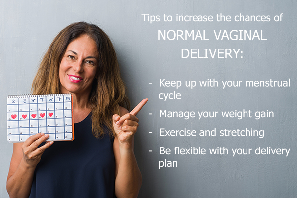 tips to increase the chances of normal vaginal delivery