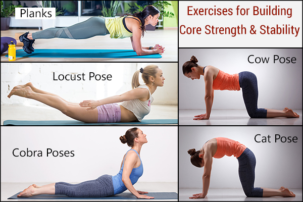 perform exercises to build core strength and stability to avoid back pain