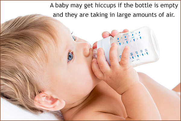 what triggers hiccups in babies after eating?