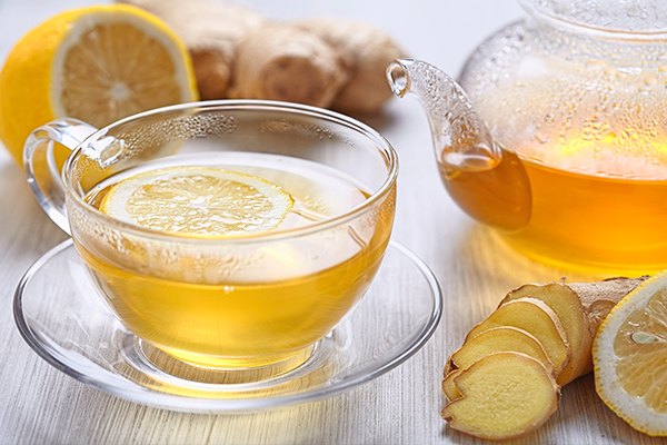 drinking ginger-lemon tea can help relieve symptoms of cough