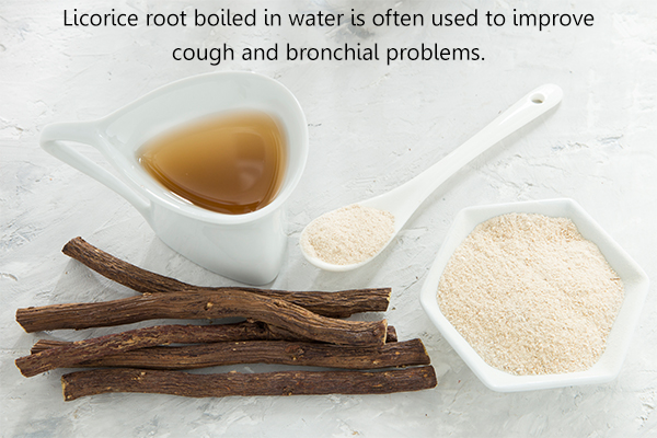 consuming licorice root can help relieve cough