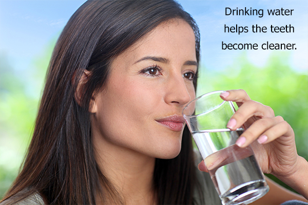 consume adequate water throughout the day