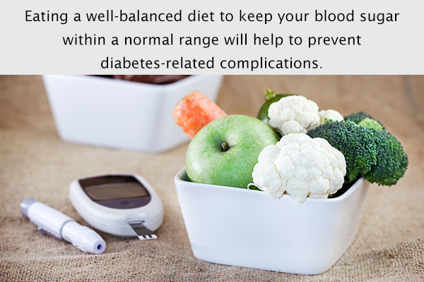 consuming a well-balanced diet helps maintain normal sugar levels