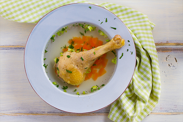 consuming warm chicken soup can help relieve flu