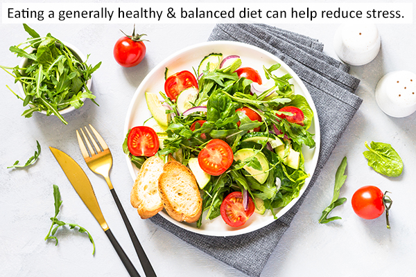 eat a healthy and balanced diet to manage stress