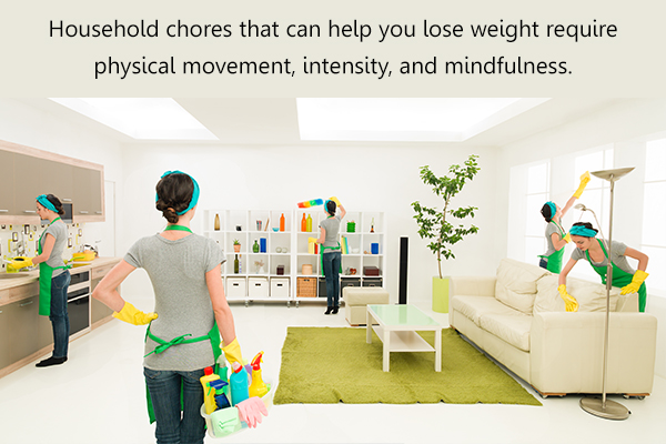 types of household chores that can aid weight loss
