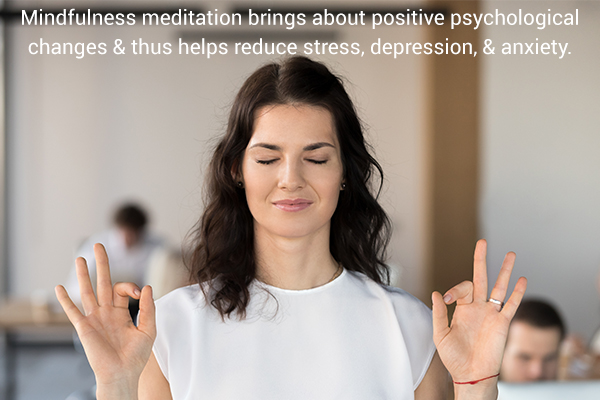 practicing meditation can help reduce stress and depression