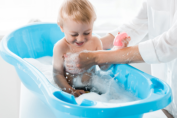encourage your child to take regular showers and baths daily