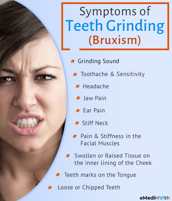 signs and symptoms of teeth grinding (bruxism)
