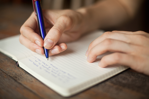 writing is a creative hobby which helps calm your mind