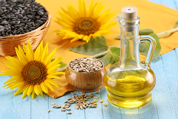 Apply sunflower seed oil