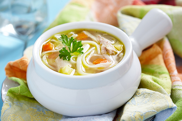 consuming chicken soup can help soothe chest congestion