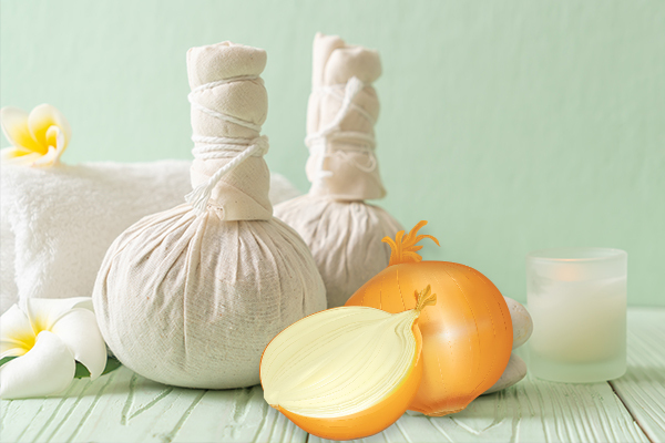 apply onion poultice to help relieve chest congestion