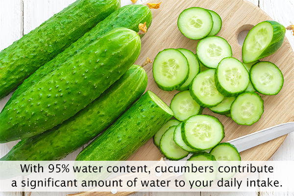 cucumbers are a great option for rehydrating yourself