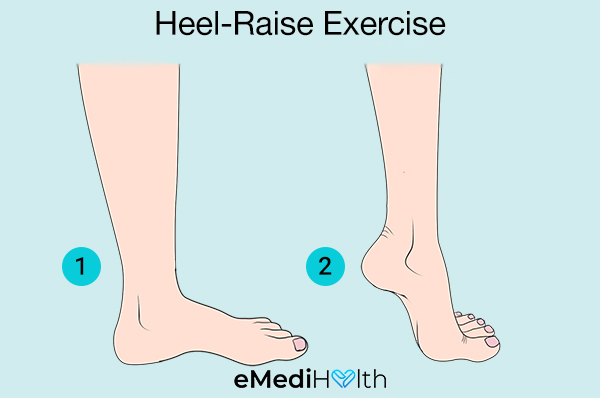 heel-raise exercise for bunion pain relief