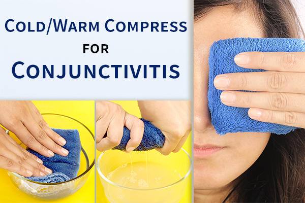 application of cold/warm compress can help relieve pink eye