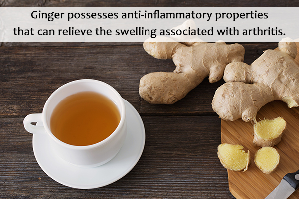 consume ginger to help curb symptoms of rheumatoid arthritis