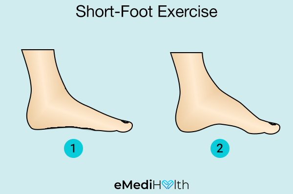 short-foot exercise for bunion pain relief