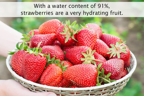 strawberries have a high water content and are nutritious
