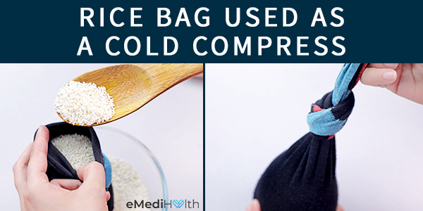 rice bag can be used as a cold compress
