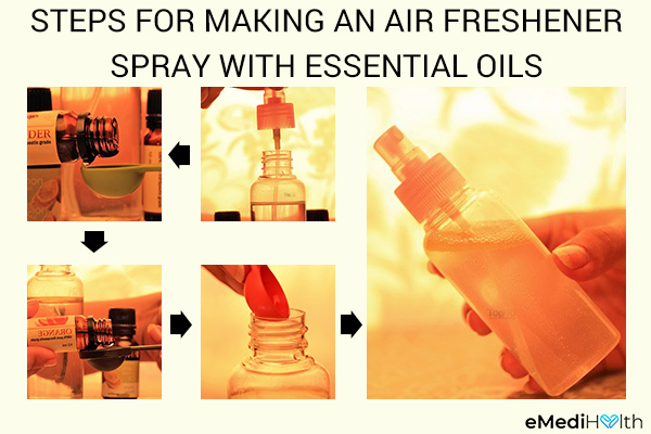 how to make an air freshner spray with essential oils
