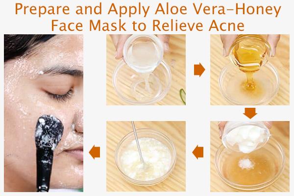 prepare and apply aloe vera-honey face mask