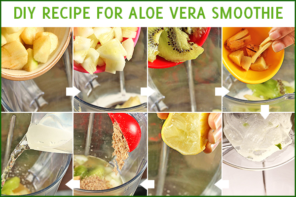 steps to make aloe vera smoothie