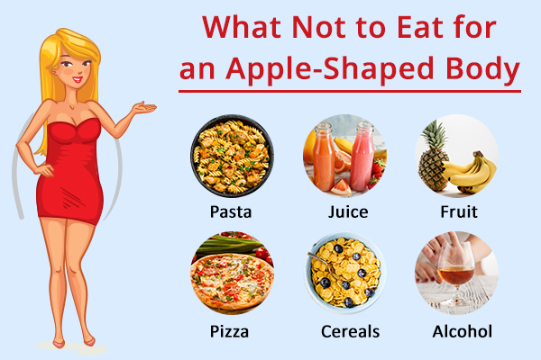 foods to avoid for an apple-shaped body type