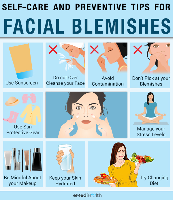 self-care tips to prevent blemishes