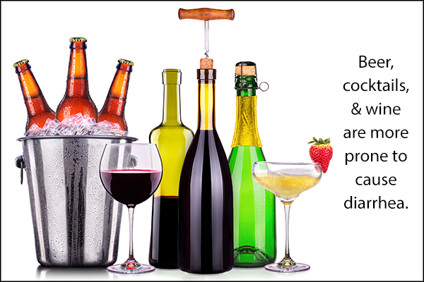 types of alcohols which make you prone to diarrhea