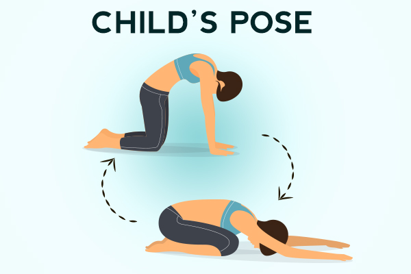 how to perform a child's pose?
